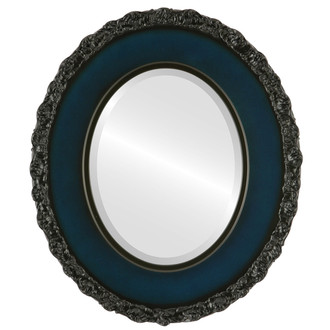 Williamsburg Beveled Oval Mirror Frame in Royal Blue