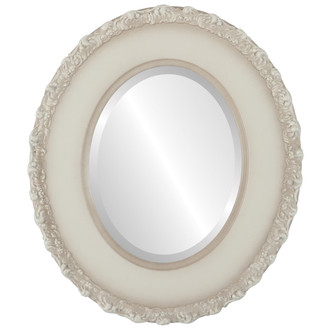 Williamsburg Beveled Oval Mirror Frame in Taupe