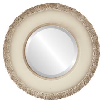 Williamsburg Beveled Round Mirror Frame in Taupe