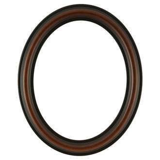 Philadelphia Oval Frame # 460 - Walnut