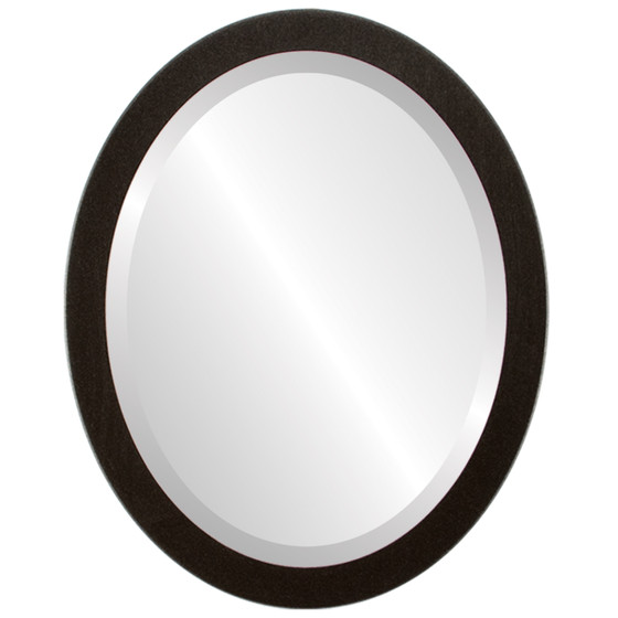 Silver Oval Mirrors from $97| Manhattan Black Silver| Free Shipping