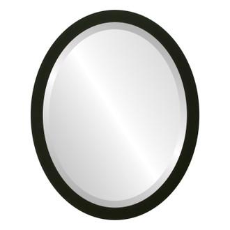 Manhattan Beveled Oval Mirror Frame in Matte Black