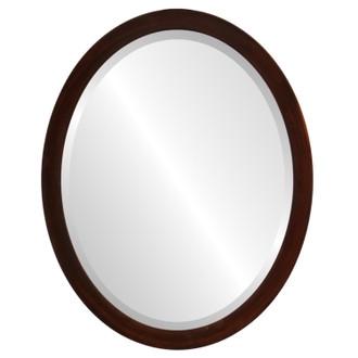 Manhattan Beveled Oval Mirror Frame in Mocha