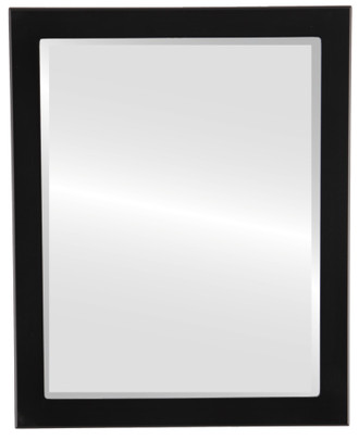 Manhattan Beveled Rectangle Mirror Frame in Matte Black