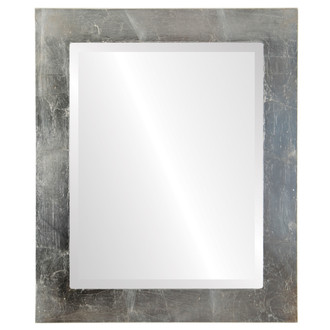 Soho Beveled Rectangle Mirror Frame in Silver Leaf with Brown Antique