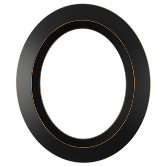 Veneto Oval Frame # 485 - Rubbed Black
