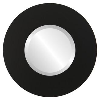 Tribeca Beveled Round Mirror Frame in Matte Black