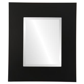 Tribeca Beveled Rectangle Mirror Frame in Matte Black