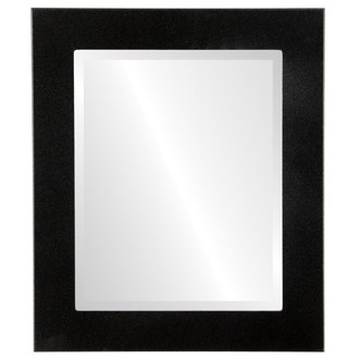 Avenue Beveled Rectangle Mirror Frame in Black Silver