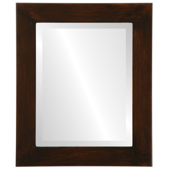 Avenue Beveled Rectangle Mirror Frame in Mocha