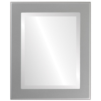 Avenue Beveled Rectangle Mirror Frame in Bright Silver