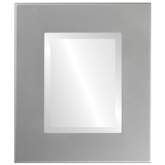 Boulevard Beveled Rectangle Mirror Frame in Bright Silver