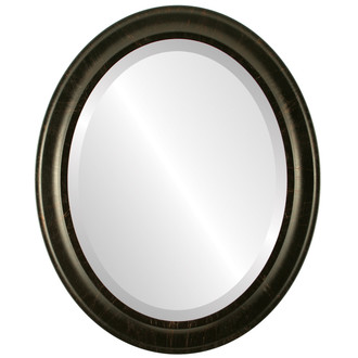 Messina Beveled Oval Mirror Frame in Veined Onyx