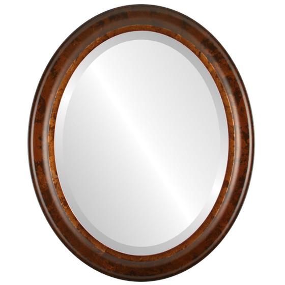 Messina Beveled Oval Mirror Frame in Venetian Gold