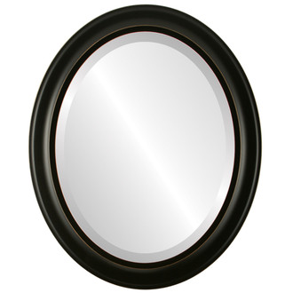 Messina Beveled Oval Mirror Frame in Rubbed Black