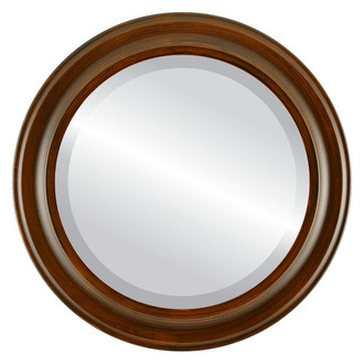 Messina Beveled Round Mirror Frame in Mocha