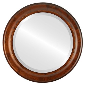 Messina Beveled Round Mirror Frame in Venetian Gold