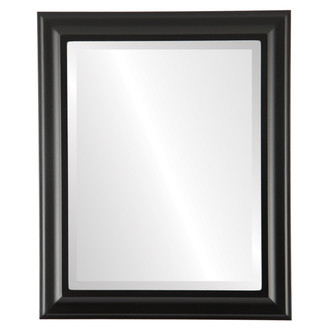 Messina Beveled Rectangle Mirror Frame in Matte Black