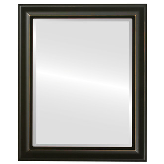 Messina Beveled Rectangle Mirror Frame in Rubbed Black