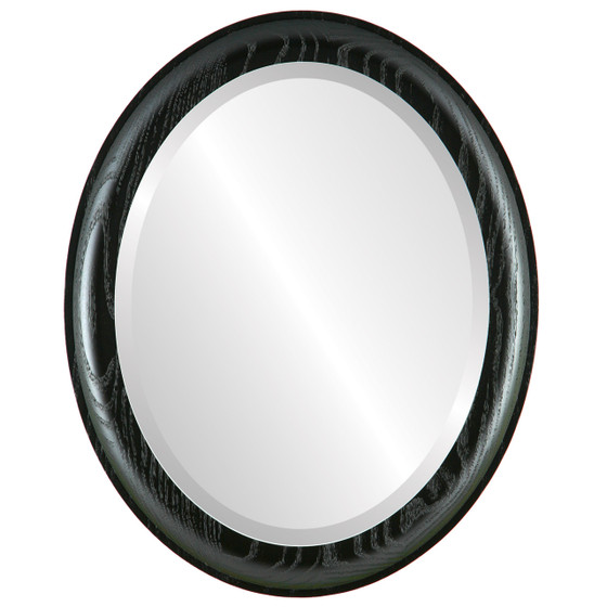 Black Oval Mirrors from $120| Vancouver Matte Black| Free Shipping