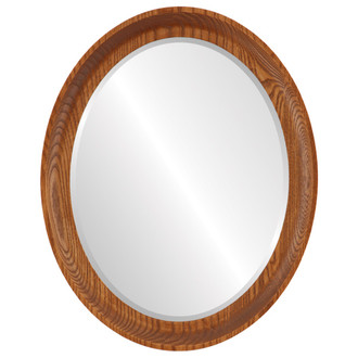 Vancouver Beveled Oval Mirror Frame in Carmel