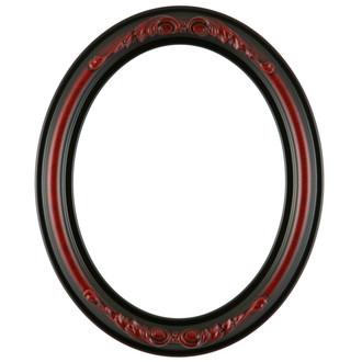 Florence Oval Frame # 461 - Vintage Cherry