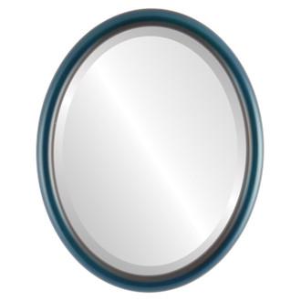 Pasadena Beveled Oval Mirror Frame in Royal Blue