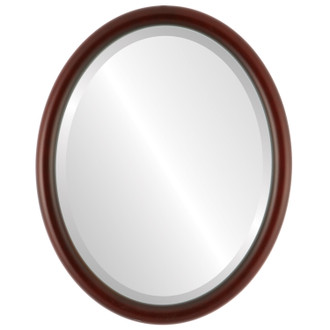 Pasadena Beveled Oval Mirror Frame in Rosewood