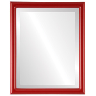 Pasadena Beveled Rectangle Mirror Frame in Holiday Red