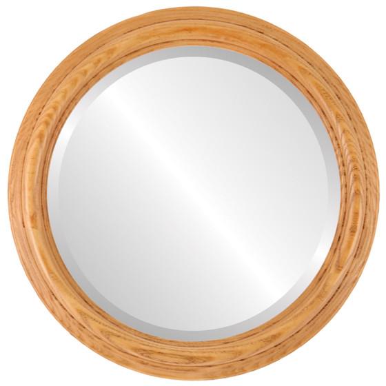 Melbourne Beveled Round Mirror Frame in Carmel