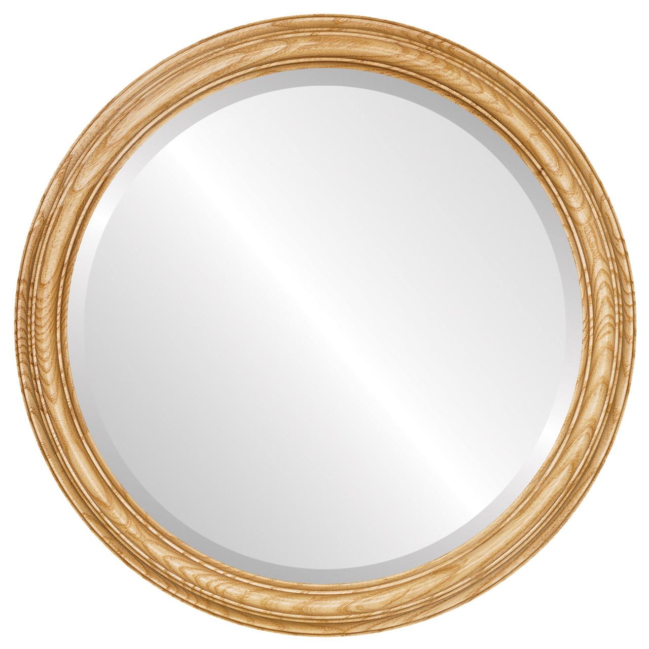 Round Framed Mirror #300 Melbourne Honey Oak Finish
