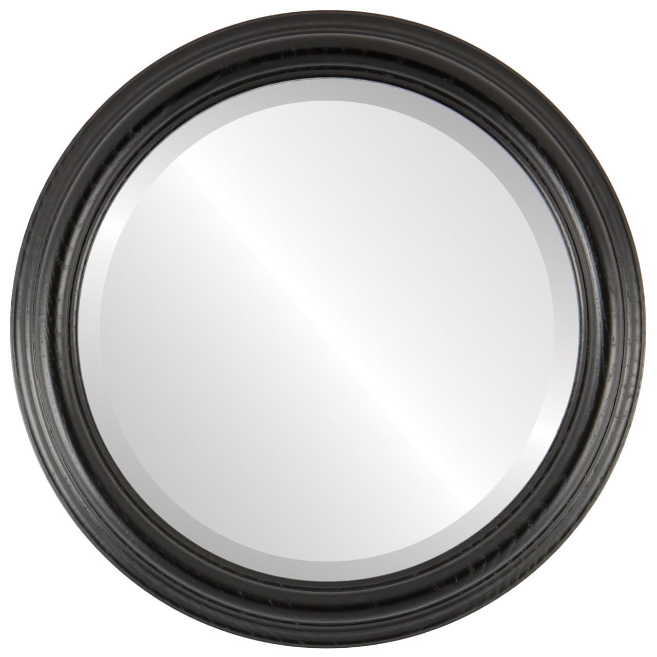 Round Framed Mirror #300 Melbourne Matte Black Finish