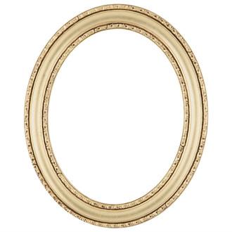 Dorset Oval Frame # 462 - Gold Leaf
