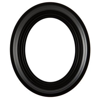 Imperial Oval Frame # 490 - Matte Black