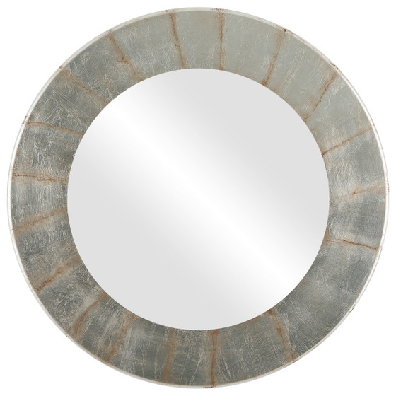 Silver Leaf with Brown Antique