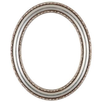 Dorset Oval Frame # 462 - Silver Leaf with Brown Antique