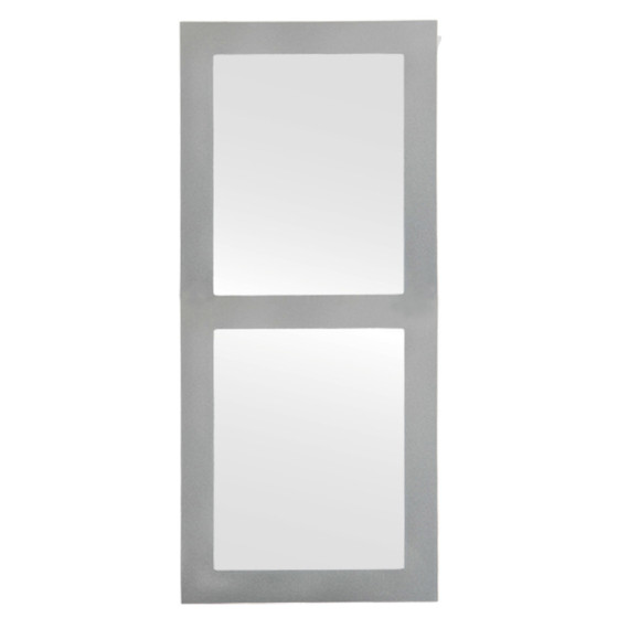 C0049 Framed Mirror in Bright Silver Finish