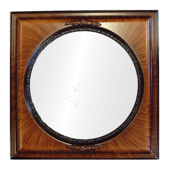 C0051 Framed Mirror in Vintage Walnut Finish