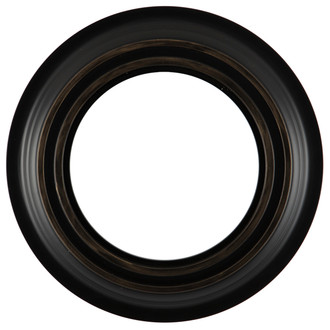 Imperial Round Frame #490 - Matte Black with Gold