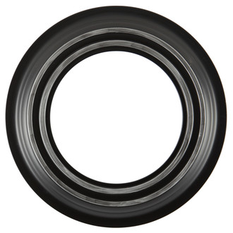 Imperial Round Frame #490 - Matte Black with Silver