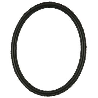 Virginia Oval Frame # 553 - Matte Black