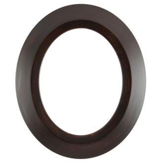 Veneto Oval Frame # 485 - Mocha