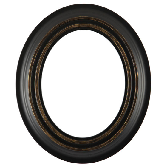 Imperial Oval Frame # 490 - Matte Black with Gold Lip
