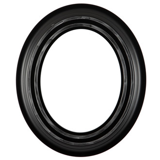 Imperial Oval Frame # 490 - Matte Black with Silver Lip