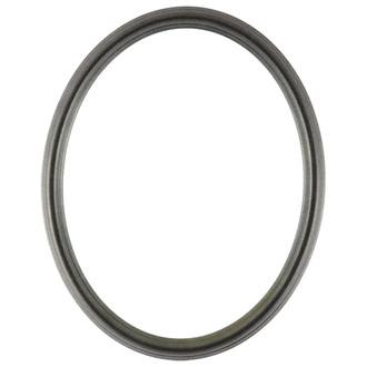 Saratoga Oval Frame # 550 - Black Silver