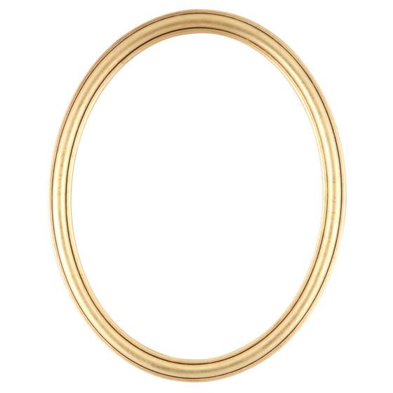Saratoga Oval Frame # 550 - Gold Leaf