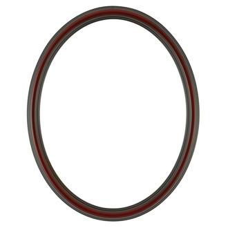 Saratoga Oval Frame # 550 - Rosewood