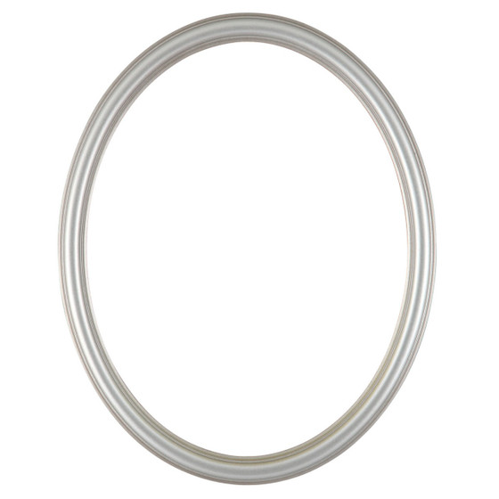 Saratoga Oval Frame # 550 - Silver Shade