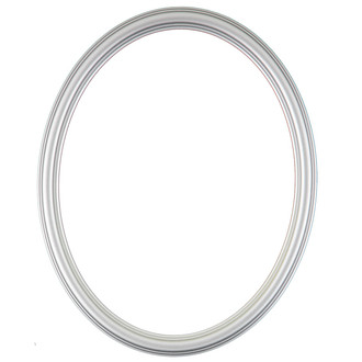 Saratoga Oval Frame # 550 - Silver Spray