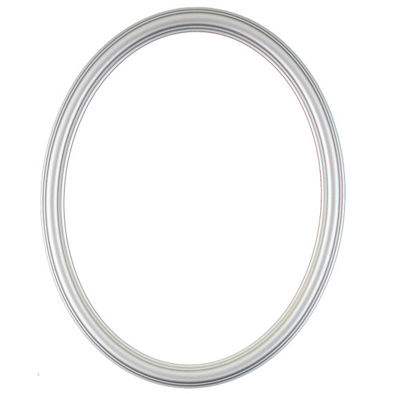 Oval Frame In Silver Spray Finish Simple Silver Paint